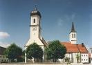Ansicht der alten und neuen Kirche St. Ulrich Ellgau
