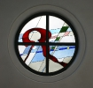 Glasfenster Omega