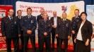 Fünf Feuerwehrmänner